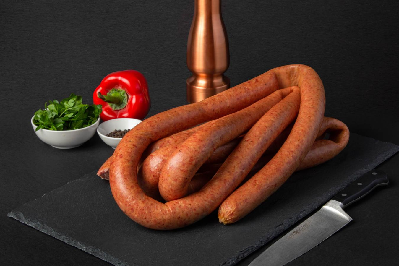 Smoked Rope Kielbasa Sausages