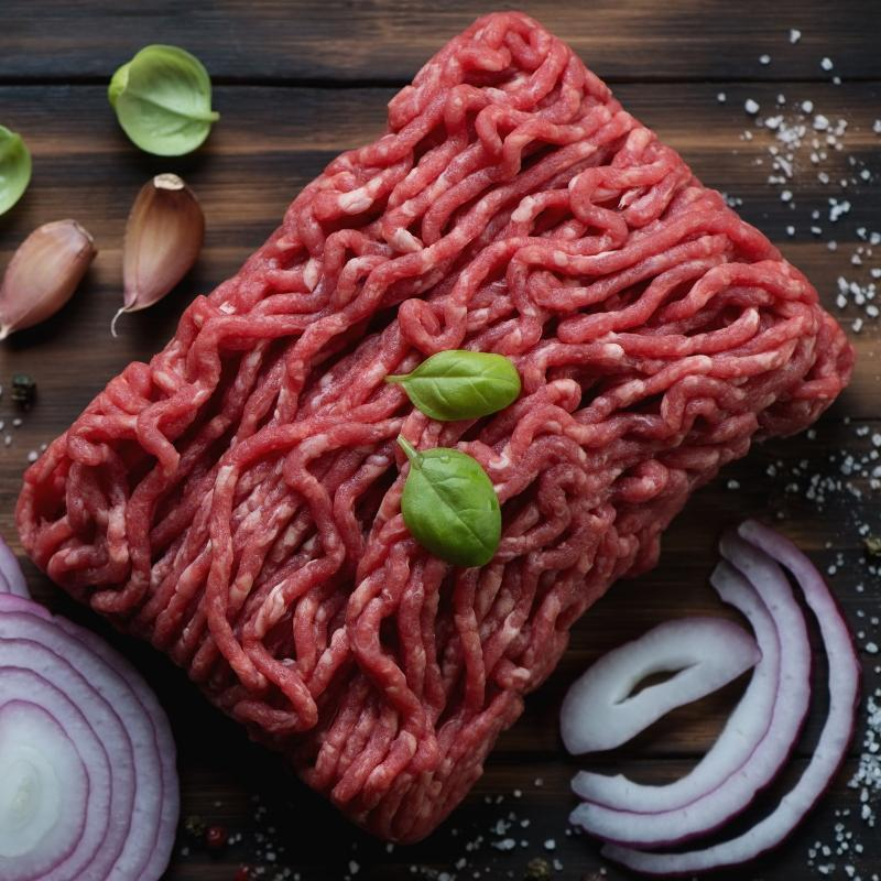 Beef Fine Ground Beef 80/20 - 1lb Brick