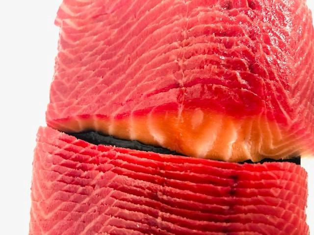 Verlasso Salmon Whole Cold Smoked with Beet Root - Sliced - Ready to Eat