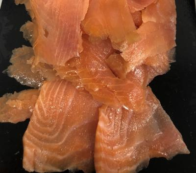 Verlasso Salmon Cold Smoked Trim (small pieces)